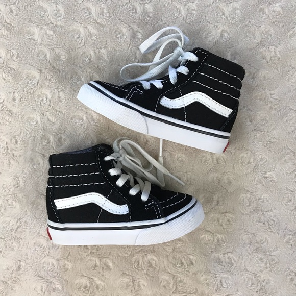 Vans Other - Vans High Top Sneakers Black White Toddler Size 4